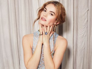 Lily James Wallpaper
